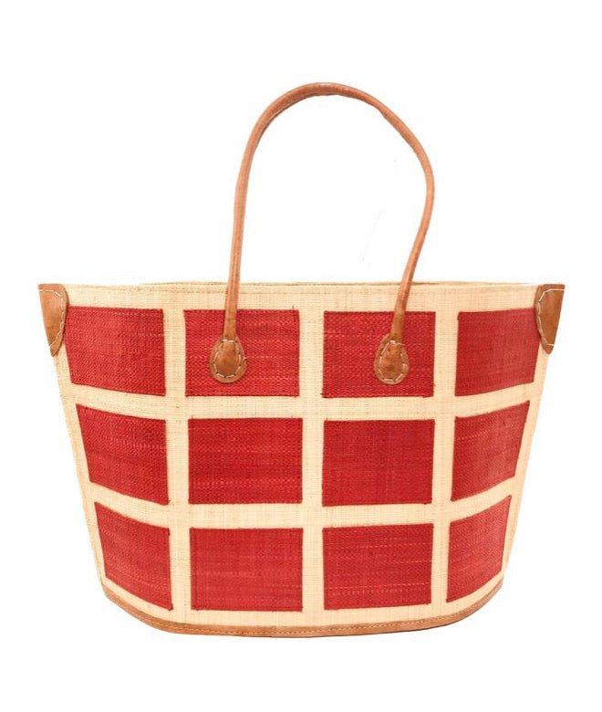 Madagascar Square Tote - Red