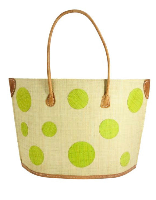 Madagascar Circle Tote - Lime