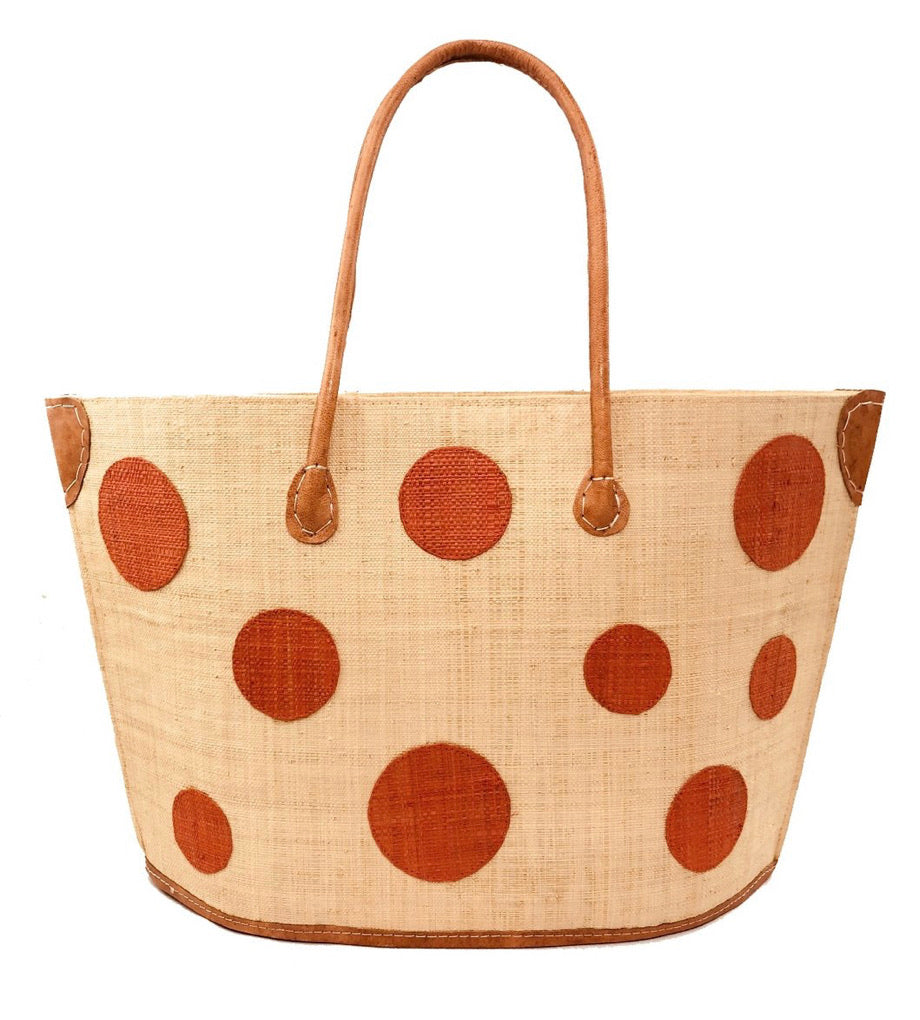 Madagascar Circle Tote - Orange