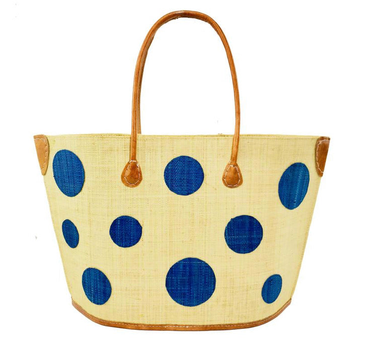 Madagascar Circle Tote - Blue