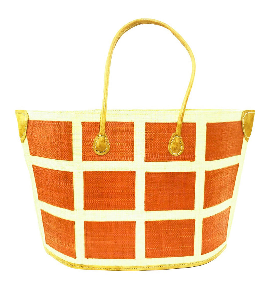 Madagascar Square Tote - Orange