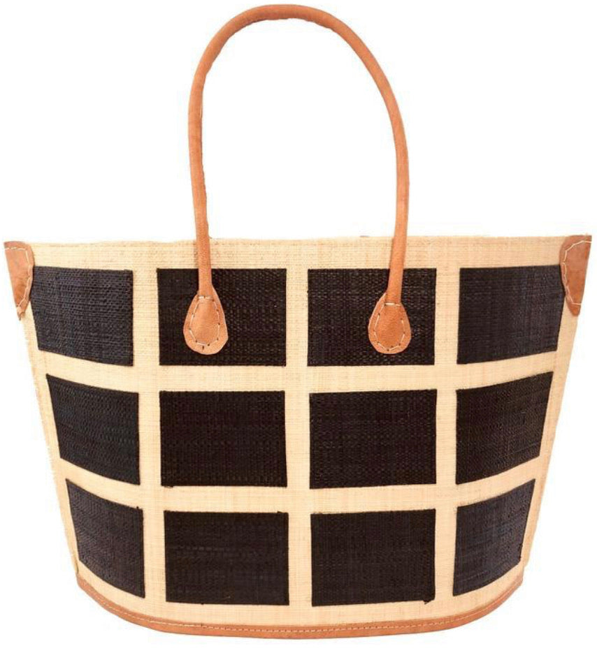 Madagascar Square Tote - Black