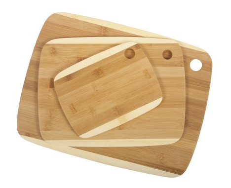 Organic Bamboo Two-Tone Cutting Boards - Set of 3 (Sm/Med/Lg)