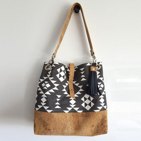 Organic Canvas + Natural Cork Grommet Bag (Assorted Patterns)