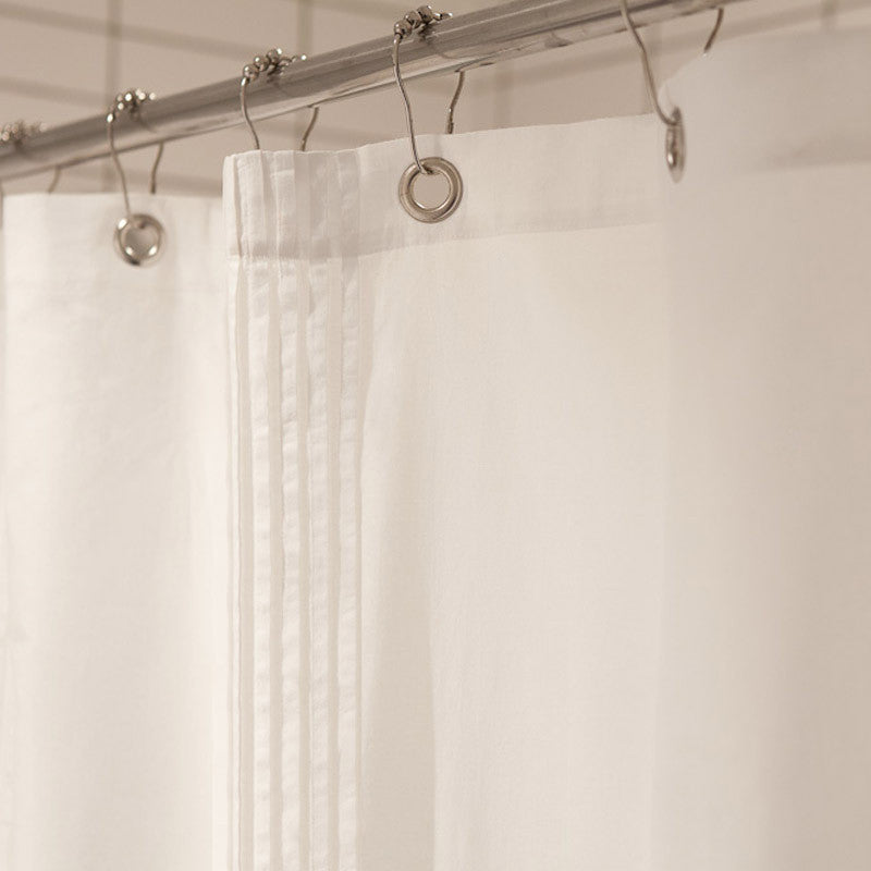 Organic Pleated Voile Shower Curtain