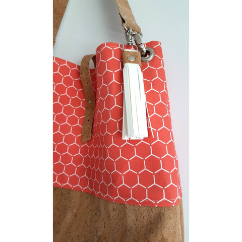 Large Organic Canvas + Natural Cork Grommet Bag (Assorted Patterns)