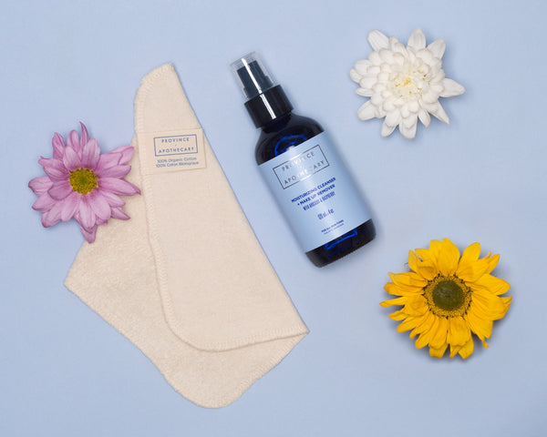How to Wash Your Face With Our Oil Cleanser and NEW Organic Cotton Face Cloths!