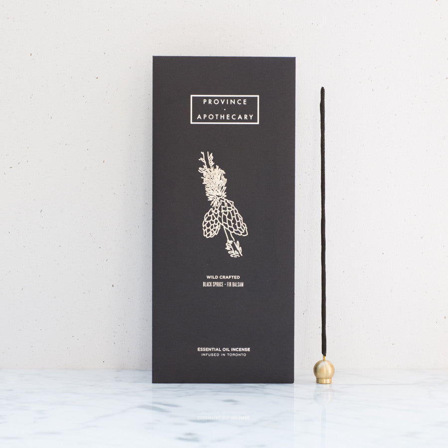 Province Apothecary Black Spruce + Fir Essential Oil Incense