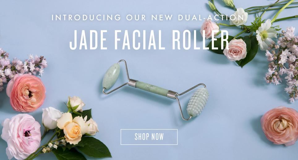 New! Dual Action Jade Roller. Shop Now
