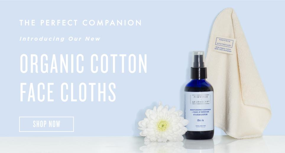 New Organic Cotton Face Cloths, Shop now
