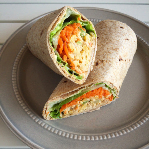 Buffalo Chickpea Salad Wrap