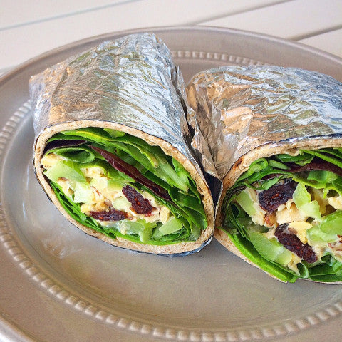 Cranberry Chickpea Salad Wrap w/ Side Salad