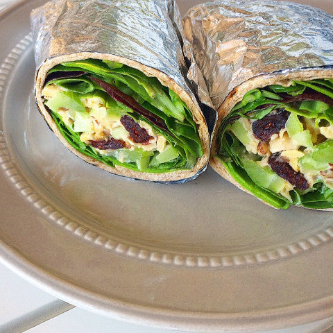 Cranberry Chickpea Salad Wrap