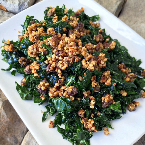 LH Kale Salad w/ Lemon Garlic Dressing & Pecan Topping