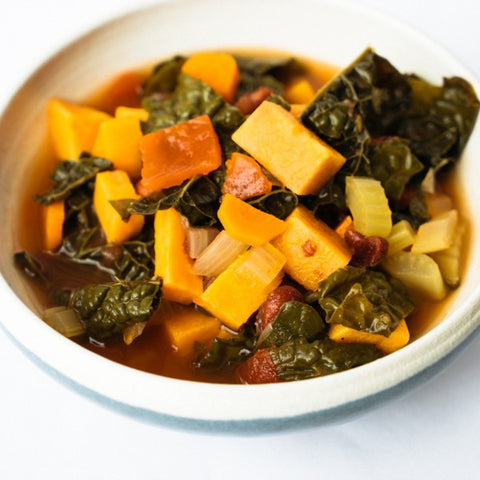 Claire's Kale & Sweet Potato Soup