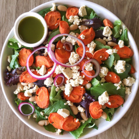 Roasted Carrot & Feta Salad