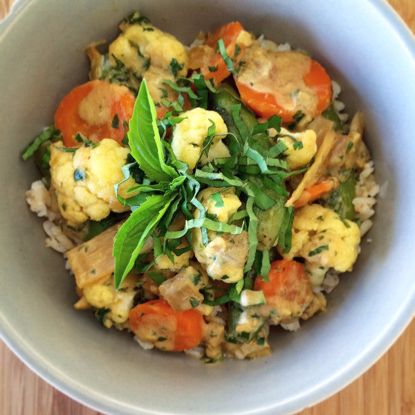 Thai Green Curry Vegetables w/ Brown Rice