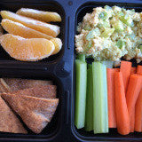 Ready To Eat Meal: Eggless Salad W/ Pita Chips, Carrot Sticks & Celery, Plus Fruit and a Trail Mix Cookie