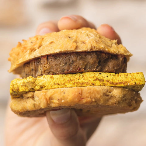 Breakfast Biscuit w/ Sausage & Tofu Egg