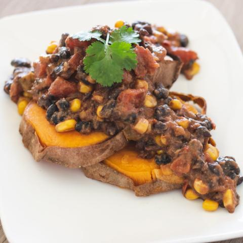 Chili Topped Sweet Potato