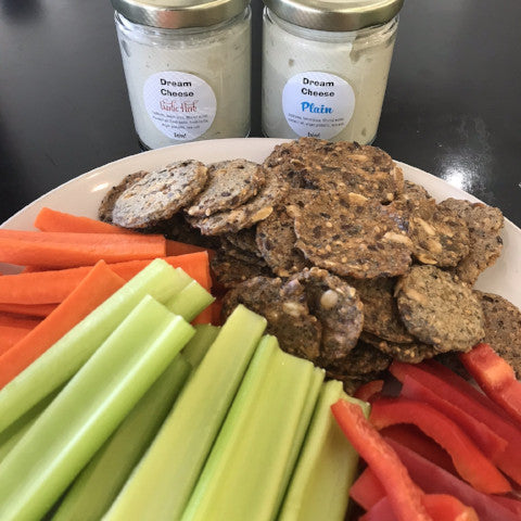 PARTY PACK: Veggie Platter w/ Radix Dream Cheese & Seed Crackers