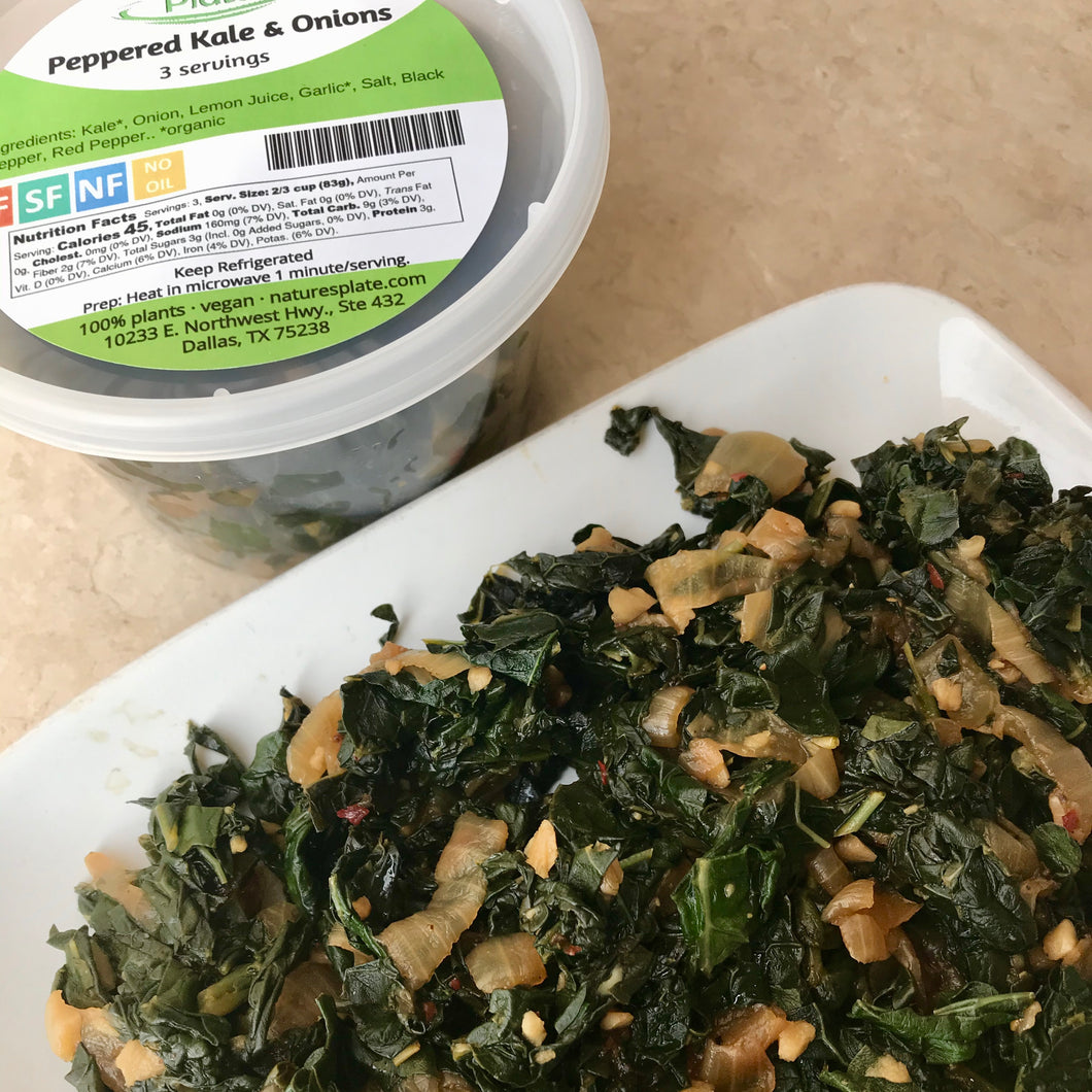 PL Peppered Kale & Onions