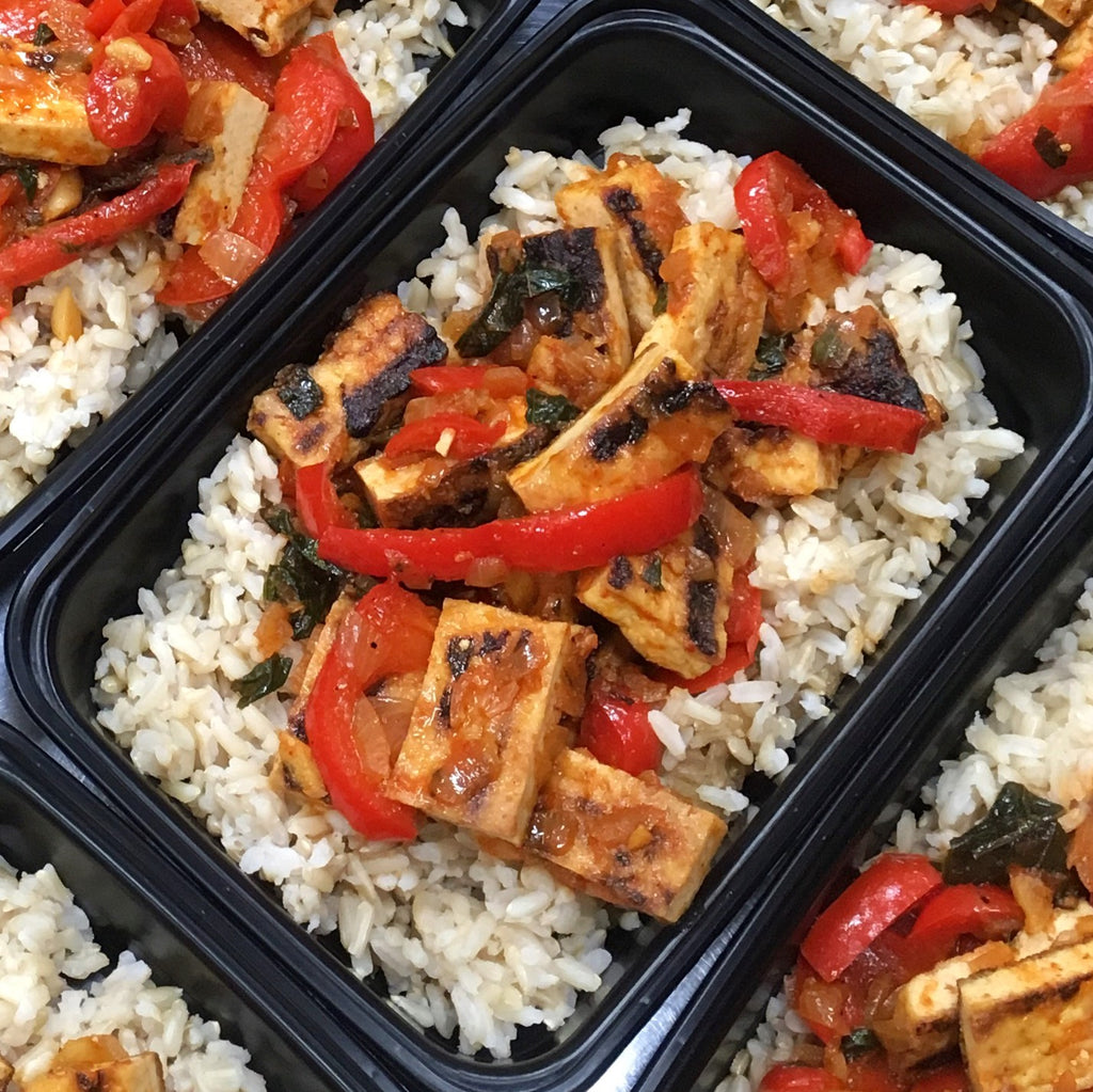 Red Thai Tofu W/ Brown Rice