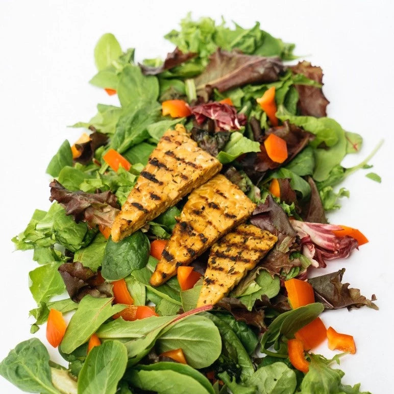 Grilled Tempeh Salad w/ Lemon Thyme Dressing