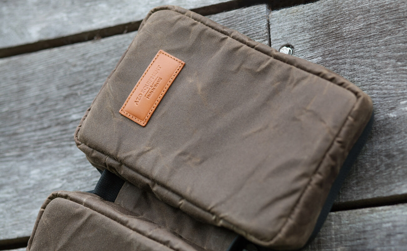 Azo Equipment Dessie Case Khaki Waxed Canvas and Dark Tan Leather