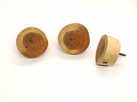 Cedar Wood Wall Hooks (3 pack)