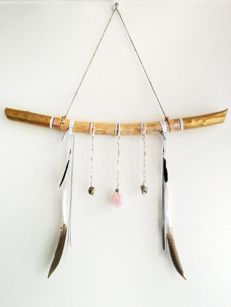 Ms Wolf Jewelry for your walls Rose Quartz- SOLD