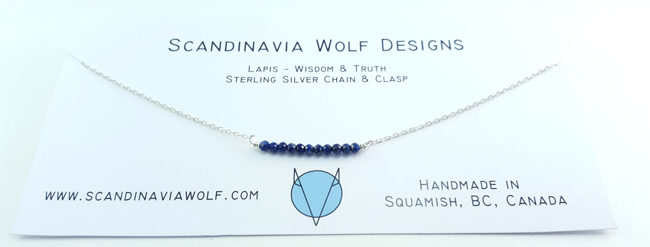 Lapis Sterling Silver Necklace