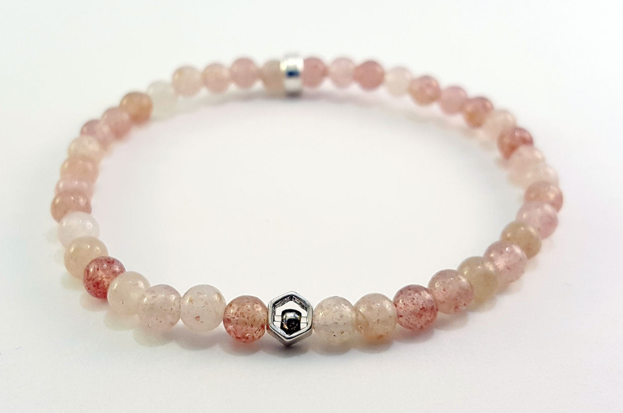 Strawberry Quartz Sterling Silver 4mm