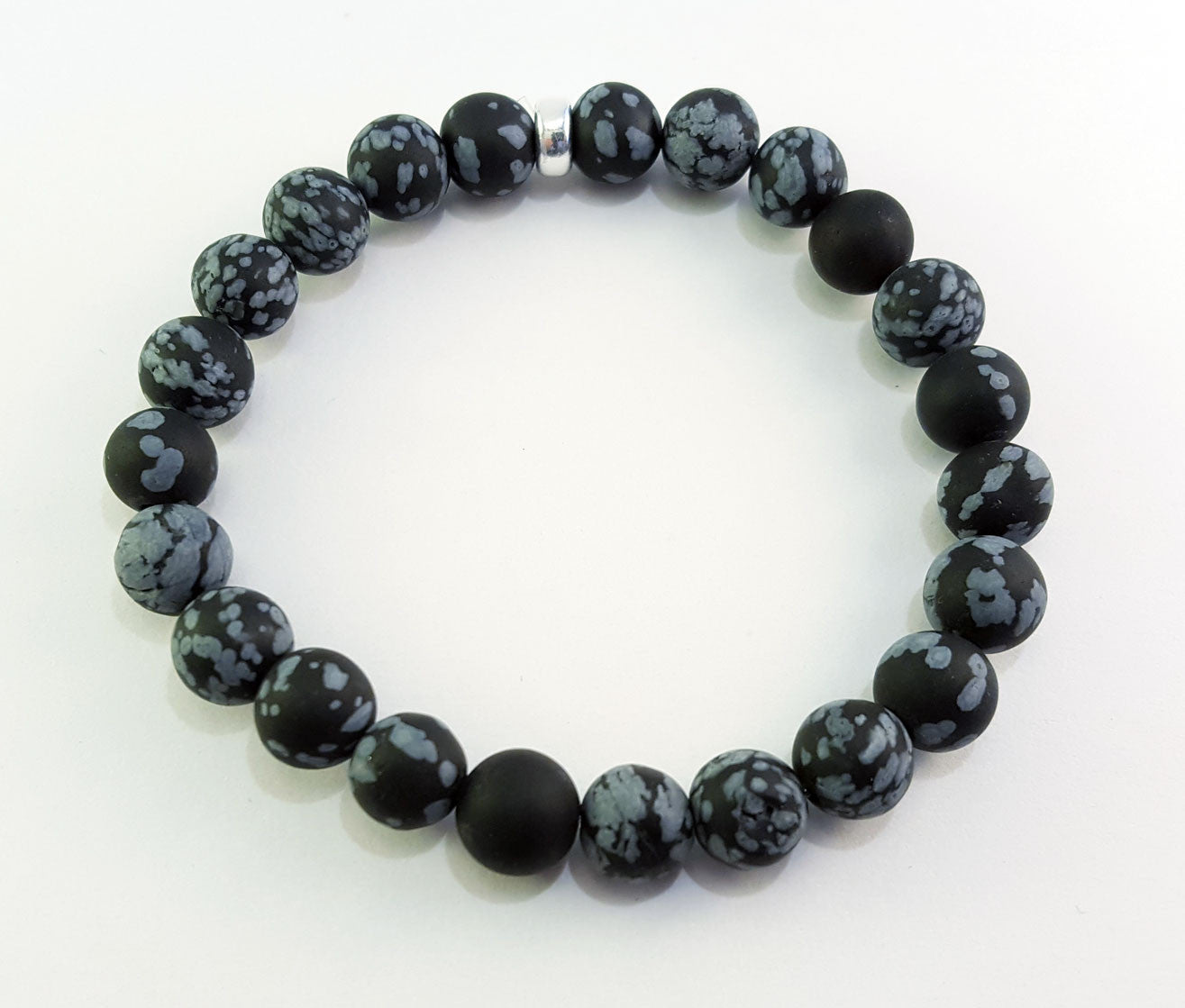 Snowflake Obsidian Sterling Silver 8mm