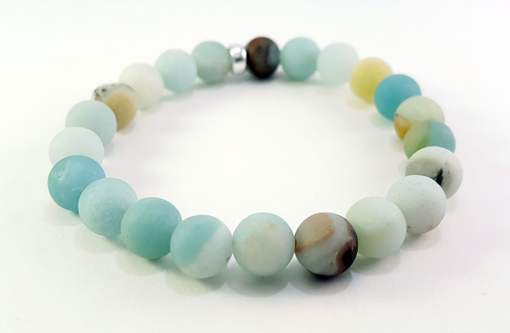 8mm Amazonite Sterling Silver