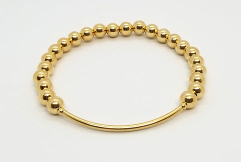 Gold 6mm Bead with Bar