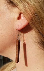 Black Walnut Column Earrings