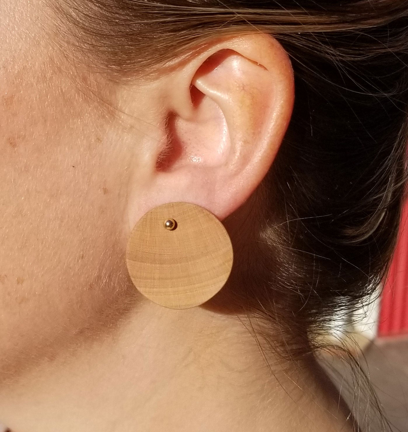 Arbutus Circle with Gold Studs