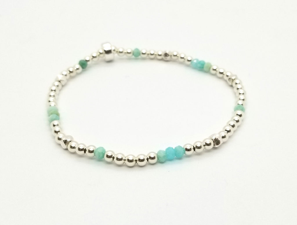 Scattered Amazonite Sterling Silver
