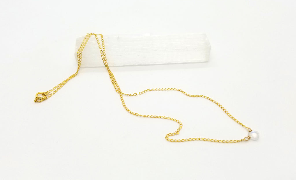 Mini Moonstone Gold Necklace