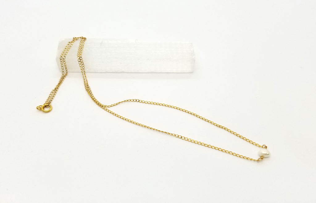 Pearl Nugget Gold Necklace