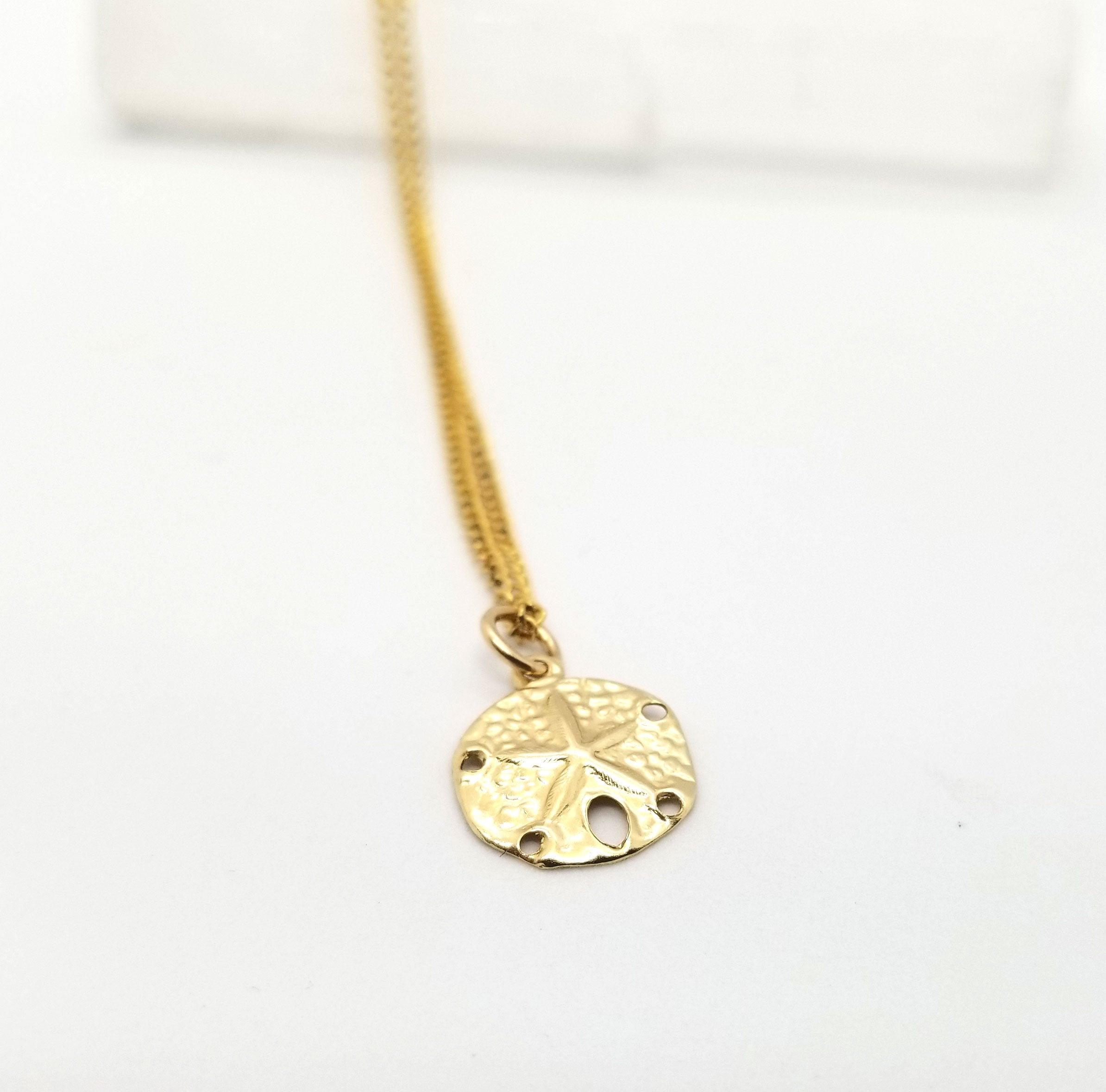 Lucky Gold Sand Dollar Pendant Necklace
