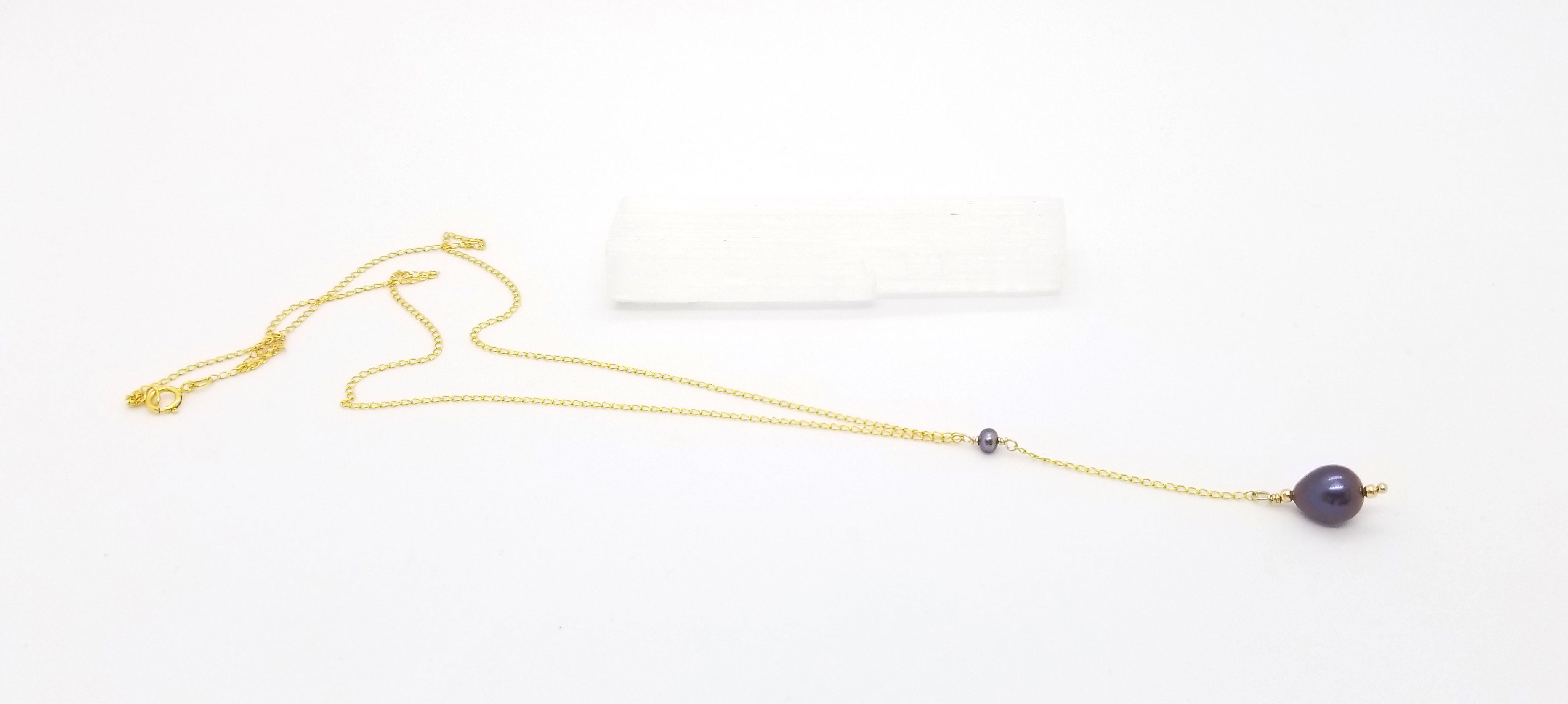 Iris Pearl Gold Necklace