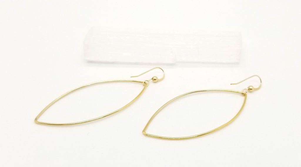 Gold Almond (Large) Earrings