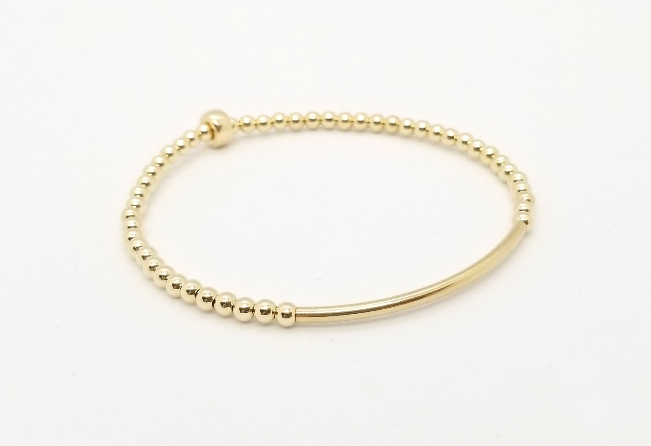 3mm Gold Bar Bracelet