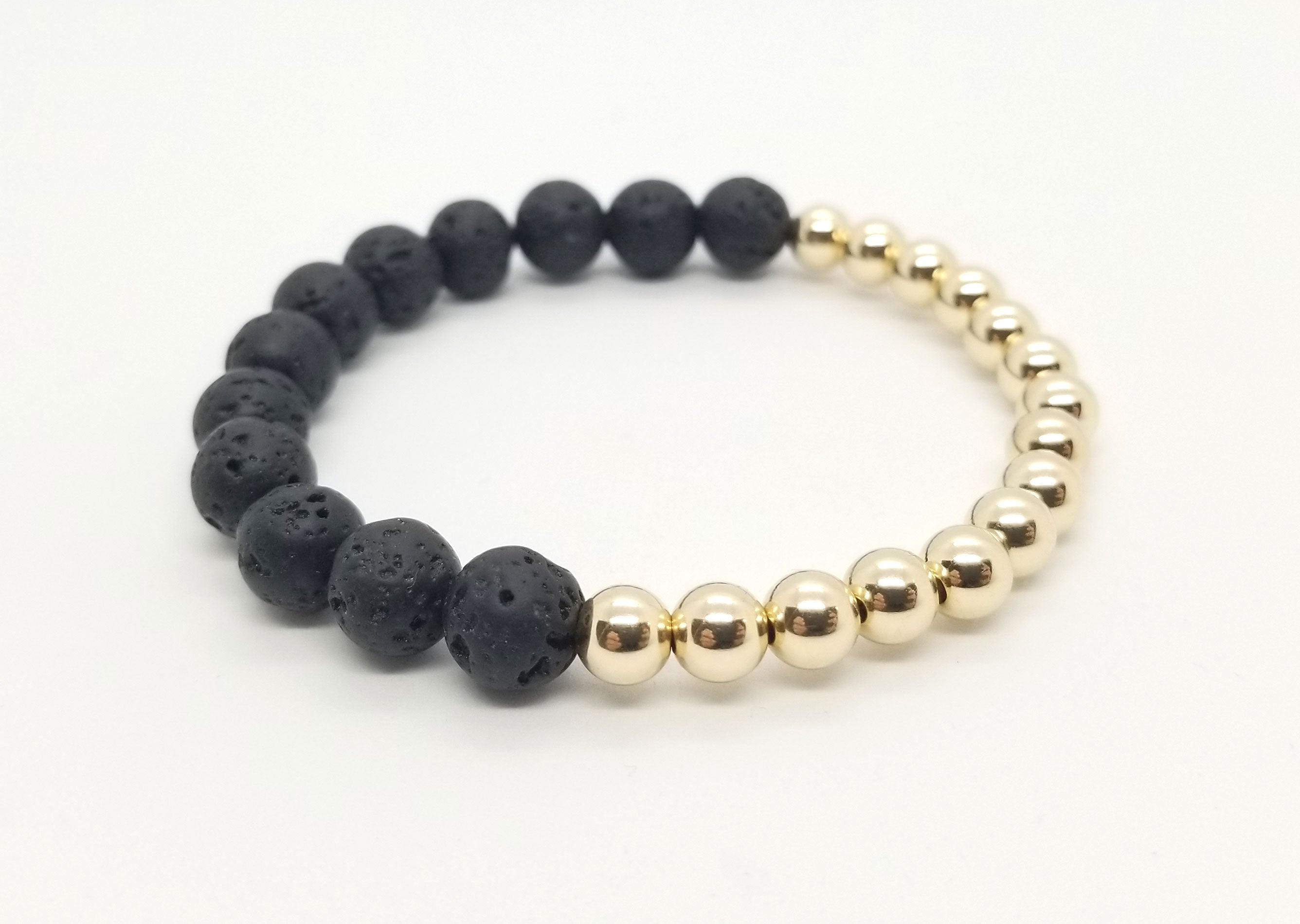 Lava Gold Half and Half Bracelet