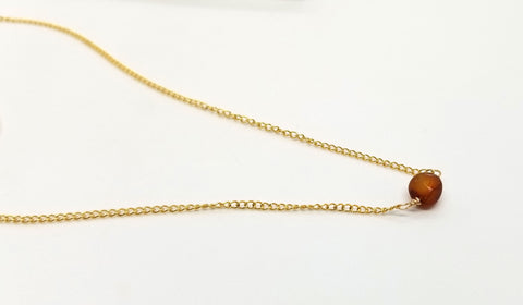 Baltic Amber Gold Nugget Necklace