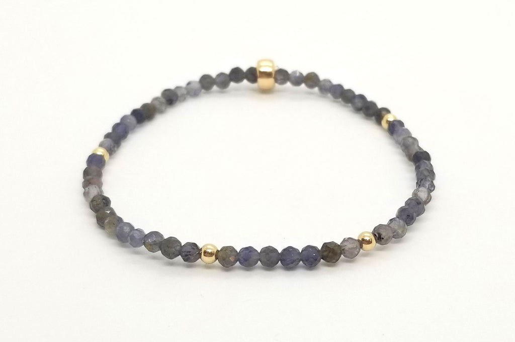 Iolite Scattered Gold Bracelet