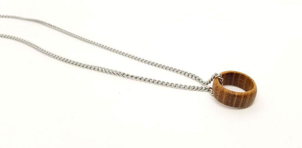 Circle O Life Wood Ring Necklace