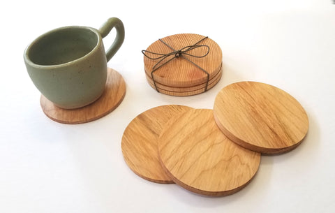 Sleek Maple Wood Coasters